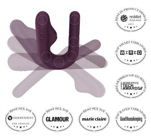 Purple Crescendo smart vibrator multiple shapes